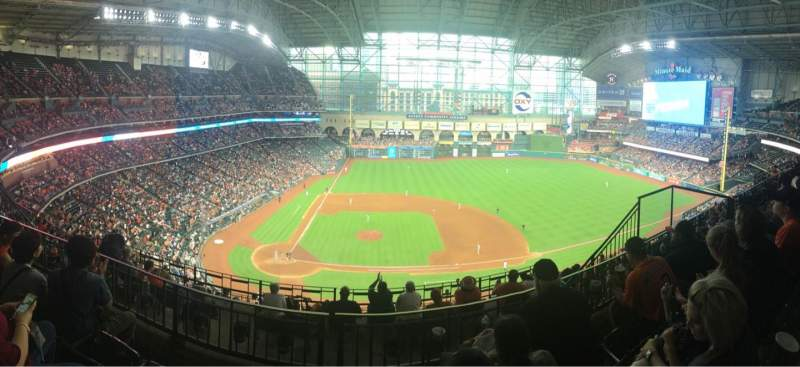 Seating view for Minute Maid Park Section 424 Row 3 Seat 14