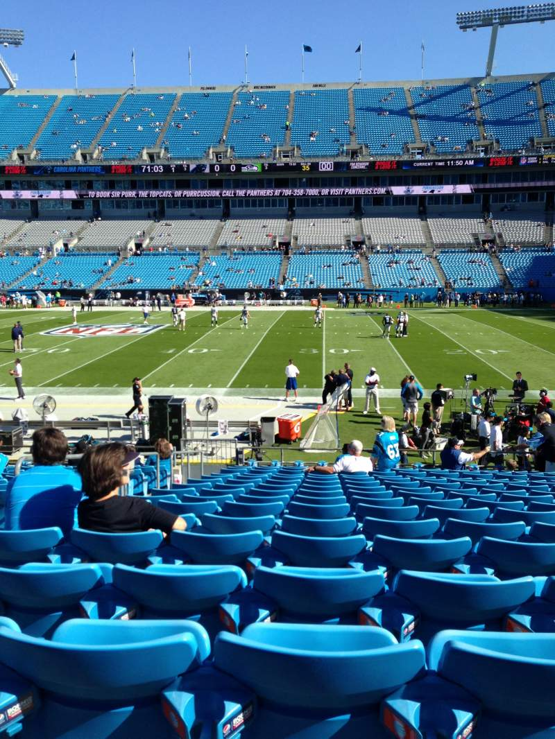 Seating view for Bank of America Stadium Section 130 Row 15 Seat 21