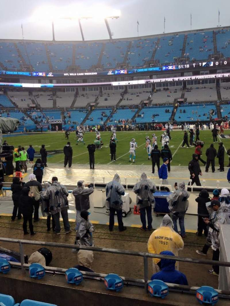 Seating view for Bank Of America Stadium Section 132 Row 3 Seat 15