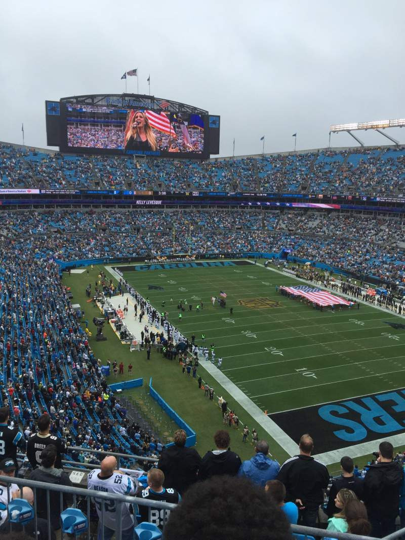 Seating view for Bank Of America Stadium Section 533 Row 4 Seat 6