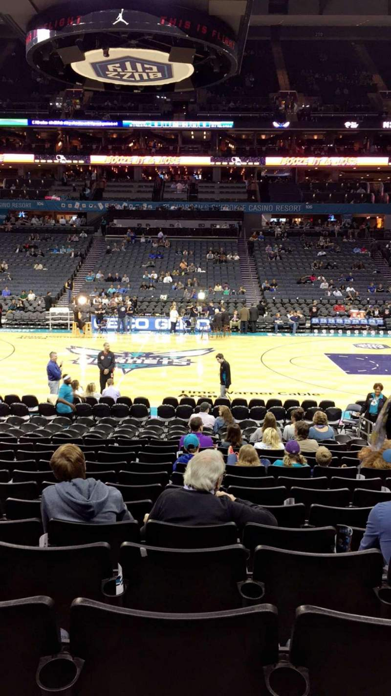 Seating view for Spectrum Center Section 114 Row M Seat 8
