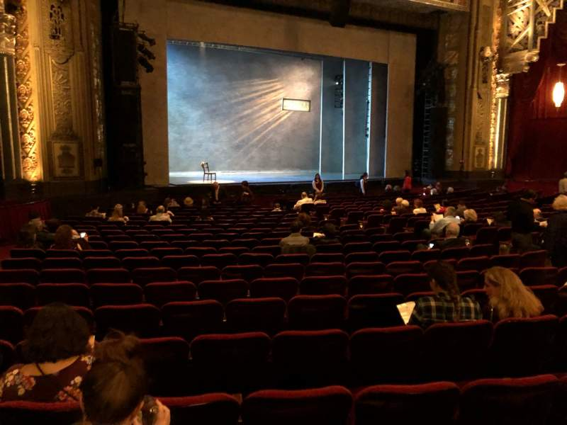 Seating view for Hollywood Pantages Theatre Section Orchestra LC Row W Seat 313