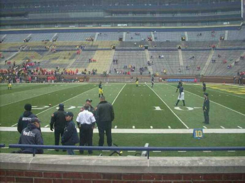 Seating view for Michigan Stadium Section 20 Row 2 Seat 2