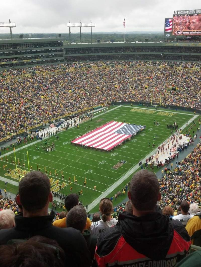 Seating view for Lambeau Field Section 739S Row 15 Seat 3
