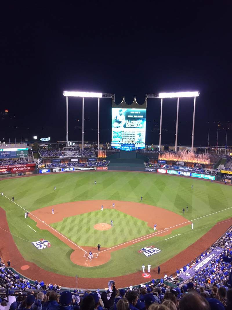 Seating view for Kauffman Stadium Section 421V Row EE Seat 10