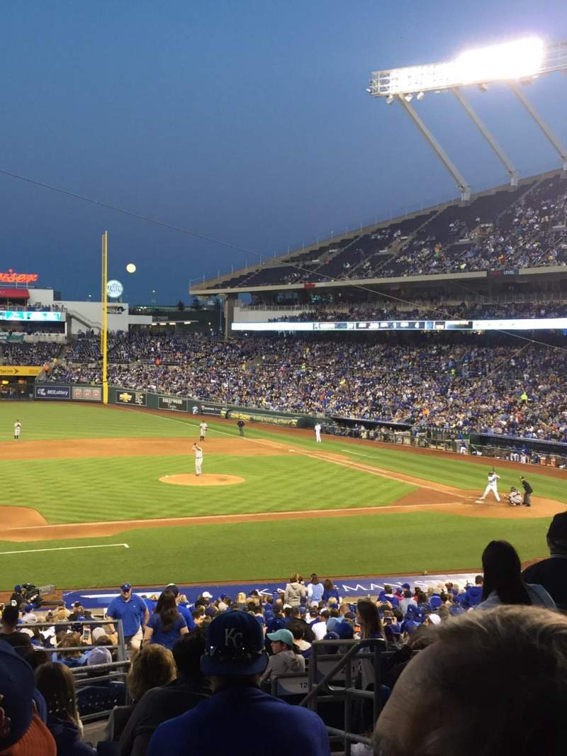 Seating view for Kauffman Stadium Section 219 Row Jj Seat 10