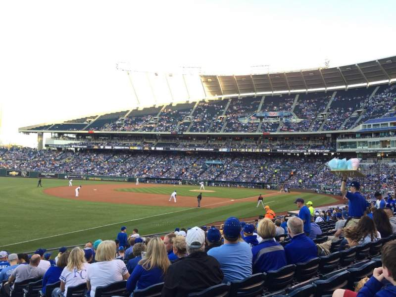 Seating view for Kauffman Stadium Section 112 Row S Seat 12