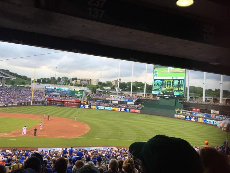 Seating view for Kauffman Stadium Section 237 Row P Seat 8