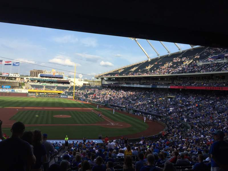 Seating view for Kauffman Stadium Section 223 Row NN Seat 1