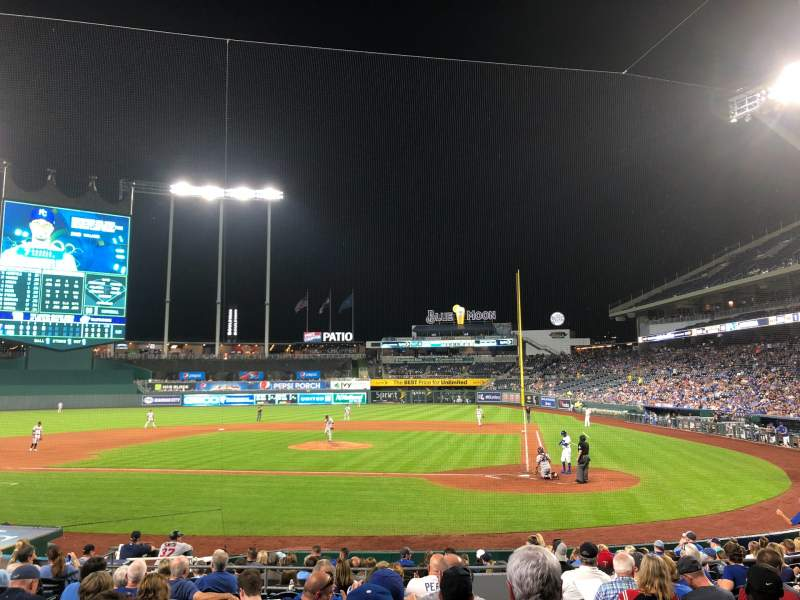 Seating view for Kauffman Stadium Section 124 Row M Seat 10