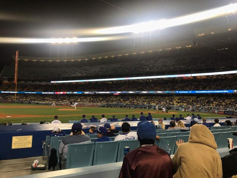 Seating view for Dodger Stadium Section 25FD Row C Seat 1