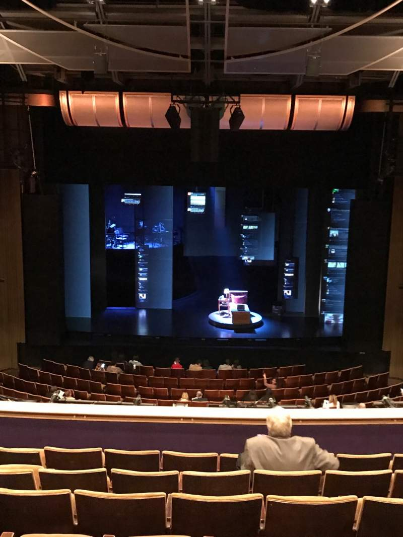 Seating view for Ahmanson Theatre Section Mezzanine Row G Seat 24