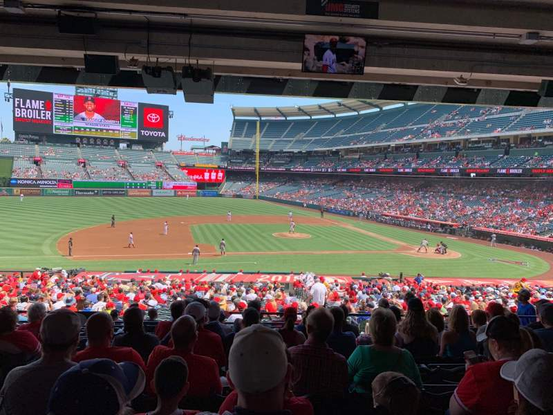 Seating view for Angel Stadium Section T211 Row J Seat 3