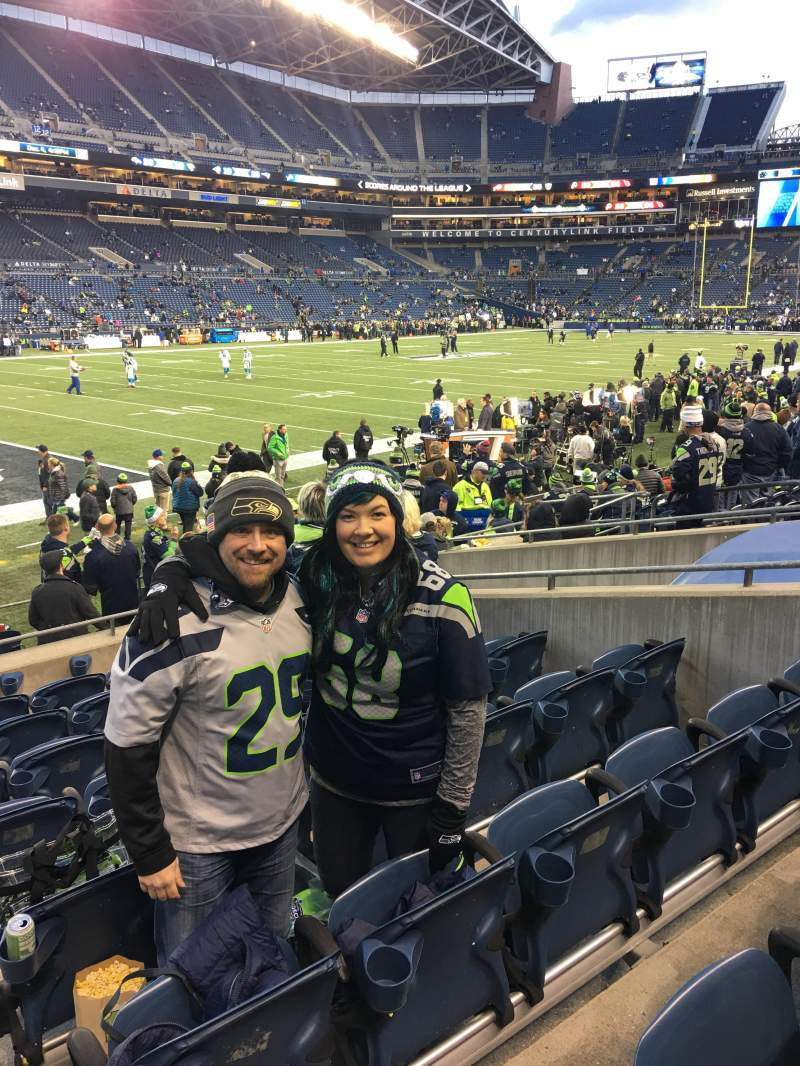 CenturyLink Field, section: 140, row: H, seat: 14 and 15