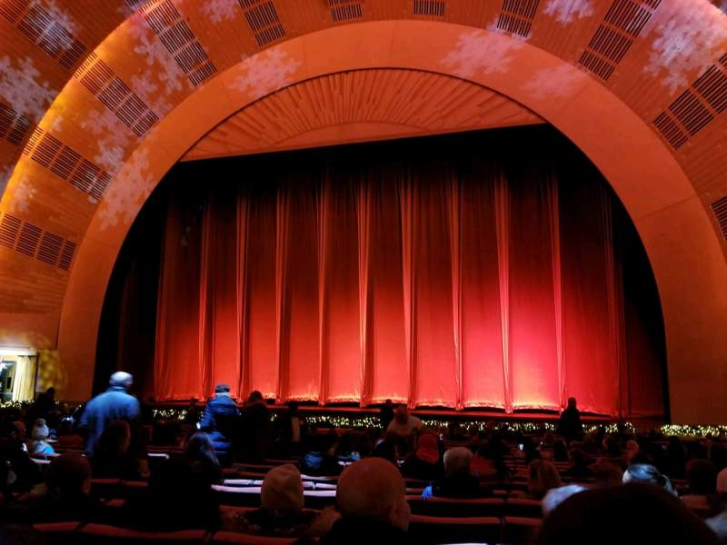 Seating view for Radio City Music Hall Section Orchestra 3 Row WW Seat 308-310