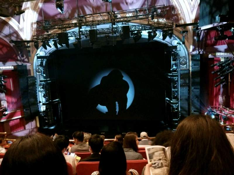 Seating view for Broadway Theatre - 53rd Street Section Front Mezzanine RC Row F Seat 119
