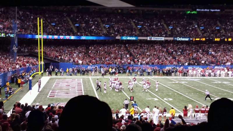Seating view for Mercedes-Benz Superdome Section 119 Row 34 Seat 6
