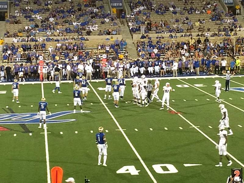 Seating view for H. A. Chapman Stadium Section 104 Row 26 Seat 22