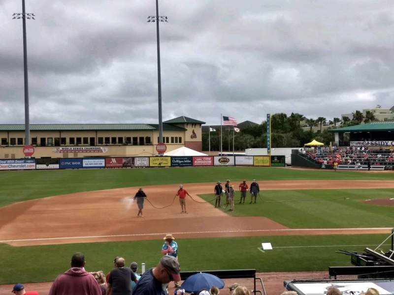 Seating view for Roger Dean Chevrolet Stadium Section 212 Row 1 Seat 12