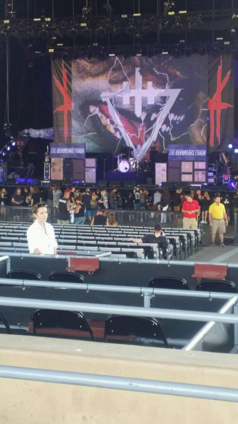 Seating view for Hollywood Casino Amphitheatre (Tinley Park) Section 205 Row LL Seat 13