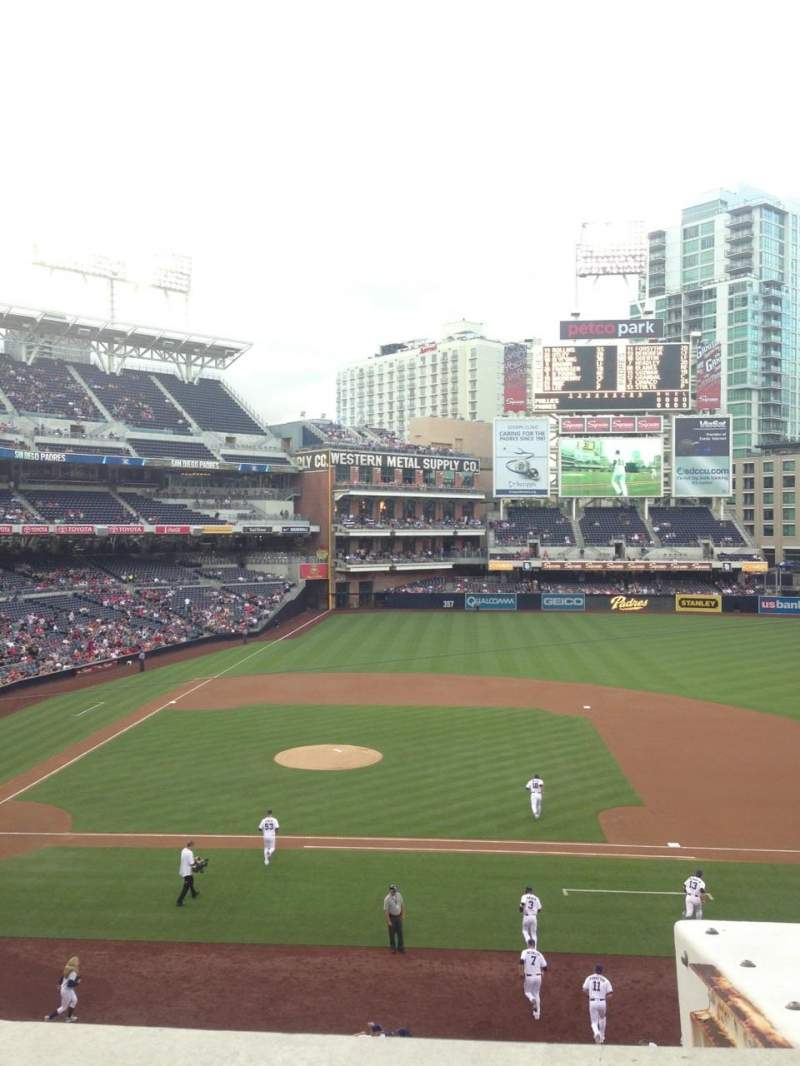 Seating view for PETCO Park Section 207 Row 1