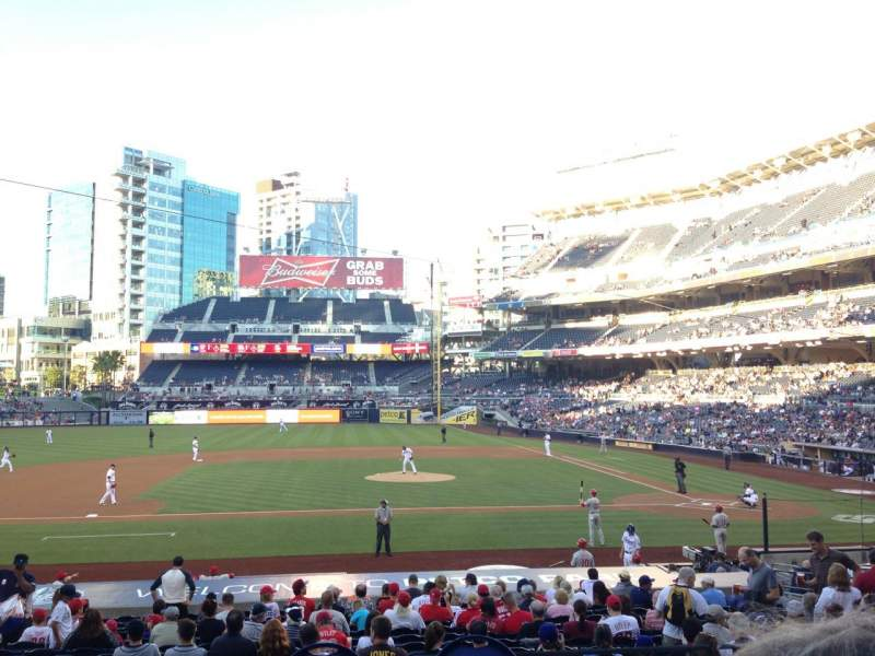 Seating view for PETCO Park Section 108 Row 26