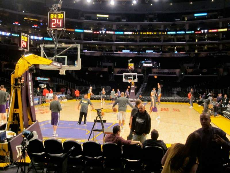 Seating view for Staples Center Section 115 Row G Seat 3-4