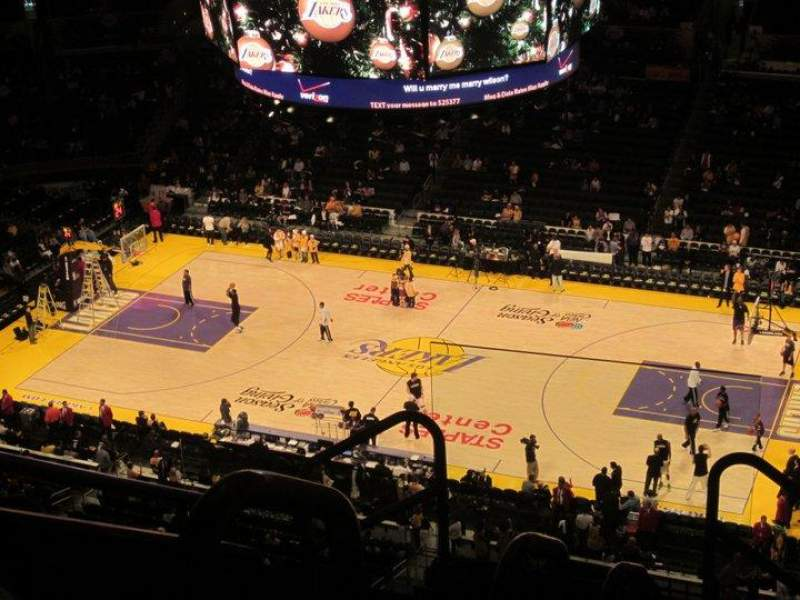 Seating view for Staples Center Section 333 Row 7 Seat 18