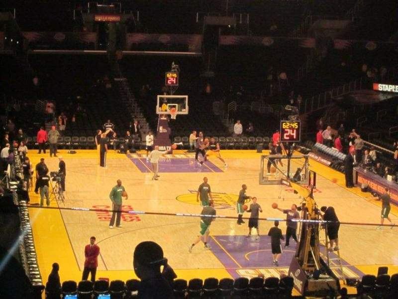 Seating view for Staples Center Section 218 Row 10