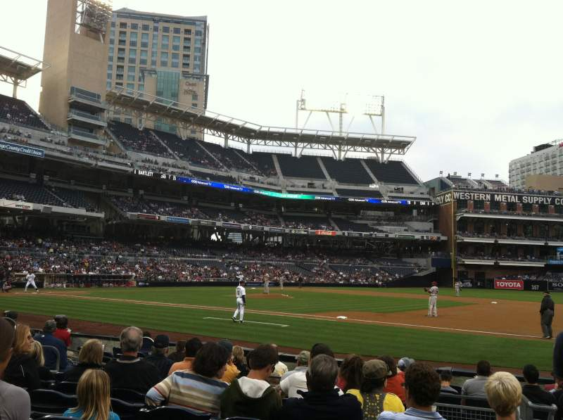 Seating view for PETCO Park Section 115 Row 10