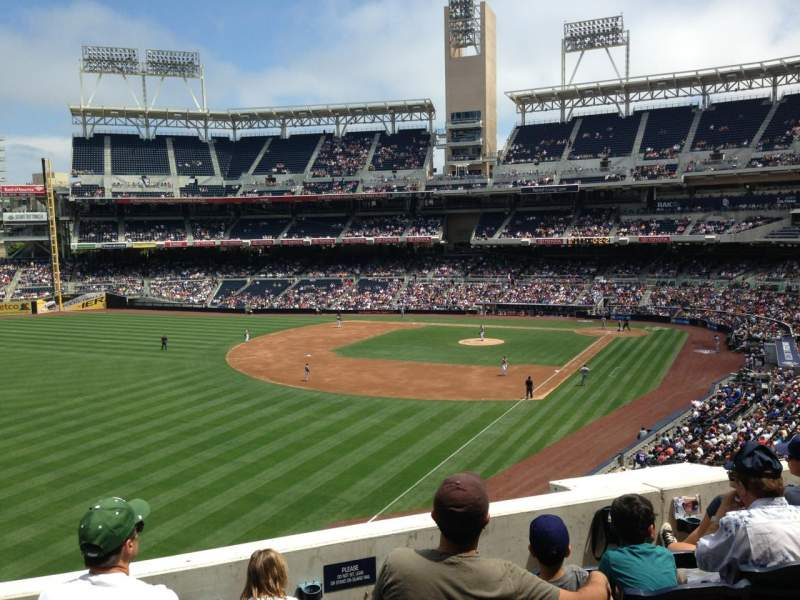 Seating view for Petco Park Section 222 Row 5  Seat 18