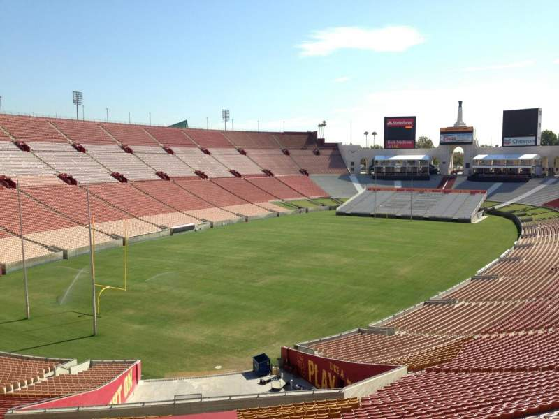 Seating view for Los Angeles Memorial Coliseum Section 12H Row 33 Seat 101