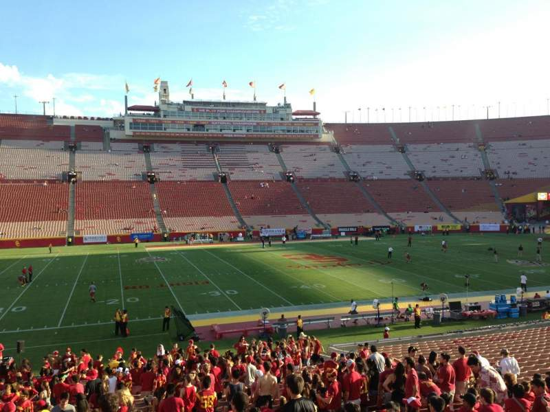 Seating view for Los Angeles Memorial Coliseum Section 24H Row 21 Seat 116