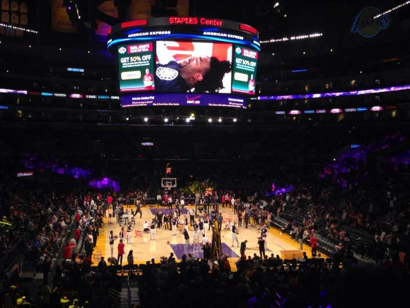 Seating view for Staples Center Section 217 Row 6 Seat 9