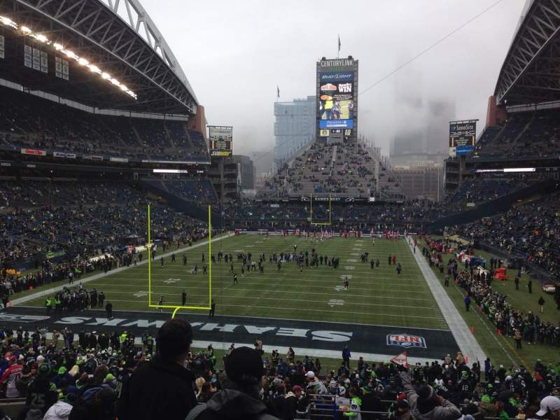 Seating view for CenturyLink Field Section 120 Row NN Seat 17