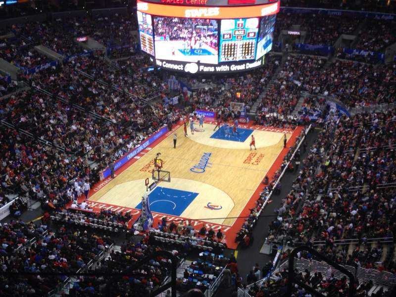 Seating view for Staples Center Section 325 Row 6 Seat 1