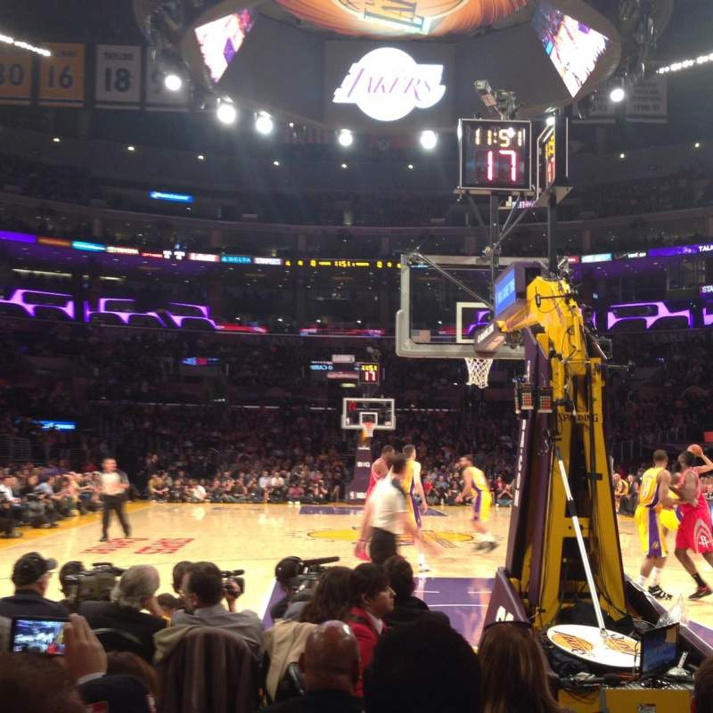 Seating view for Staples Center Section 107 Row E Seat 3