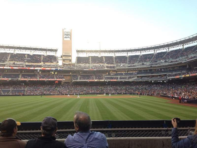 Seating view for Petco Park Section 128 Row 4 Seat 6