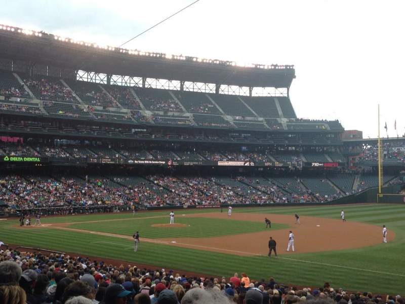 Seating view for Safeco Field Section 117 Row 34 Seat 4