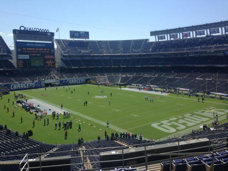 Seating view for Qualcomm Stadium Section Loge 15 Row 10 Seat 9