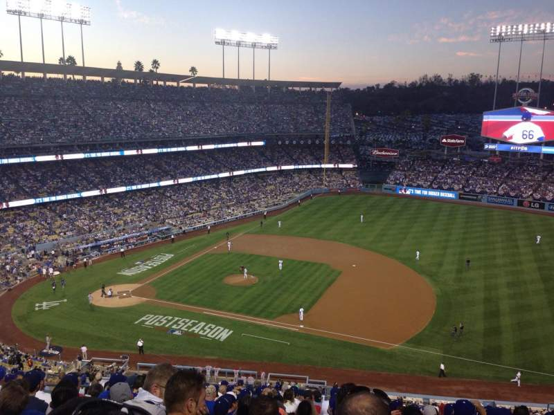 Seating view for Dodger Stadium Section 24RS Row T Seat 10