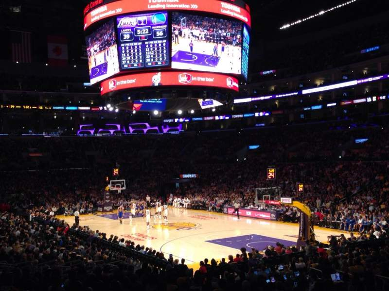 Seating view for Staples Center Section 108 Row 20 Seat 10