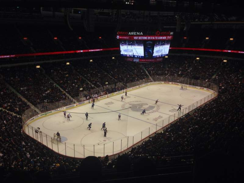 Seating view for Rogers Arena Section 312 Row 14 Seat 108