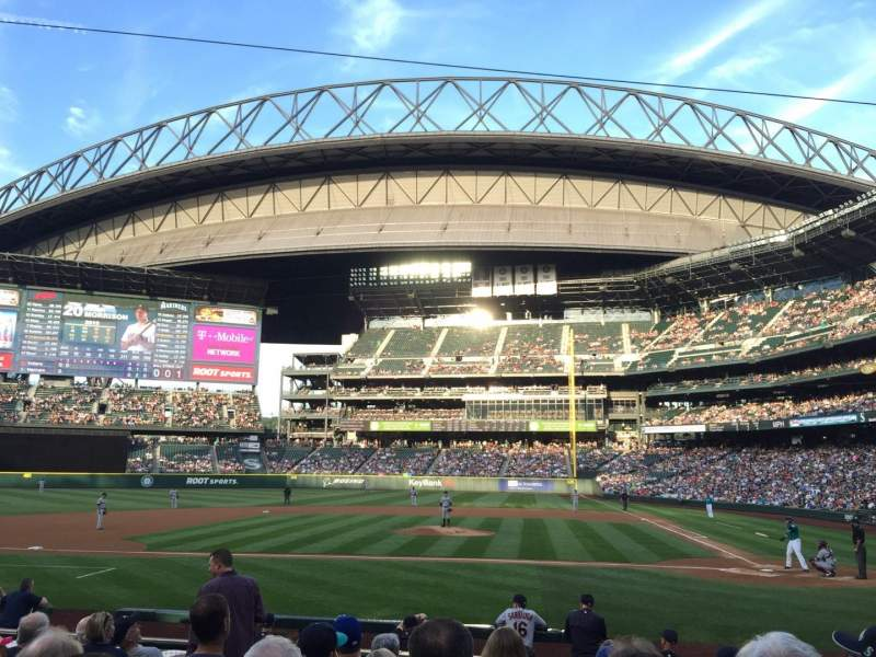 Seating view for Safeco Field Section 136 Row 13 Seat 8