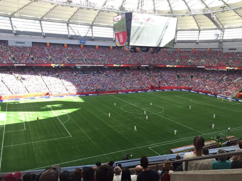 Seating view for BC Place Section 418 Row EE Seat 102