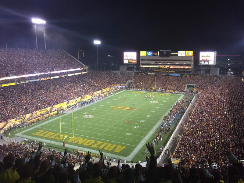 Seating view for Sun Devil Stadium Section 219 Row 33 Seat 11