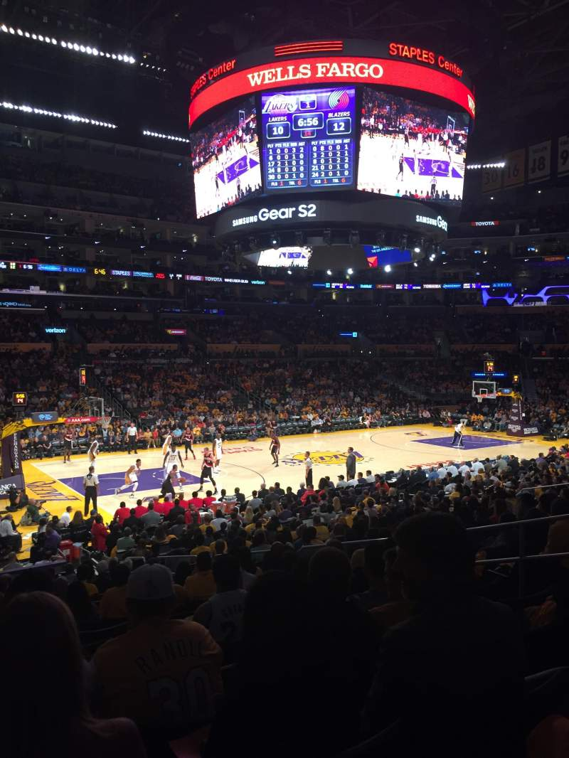 Seating view for Staples Center Section 103 Row 20 Seat 9