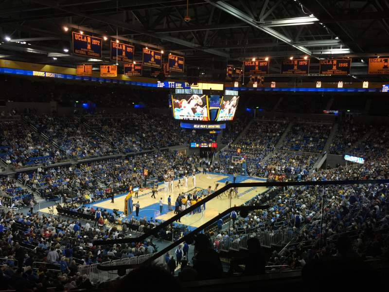 Seating view for Pauley Pavilion Section 206C Row 4 Seat 3