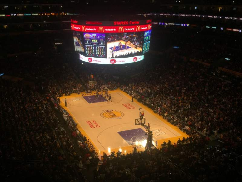 Seating view for Staples Center Section 329 Row 4 Seat 3
