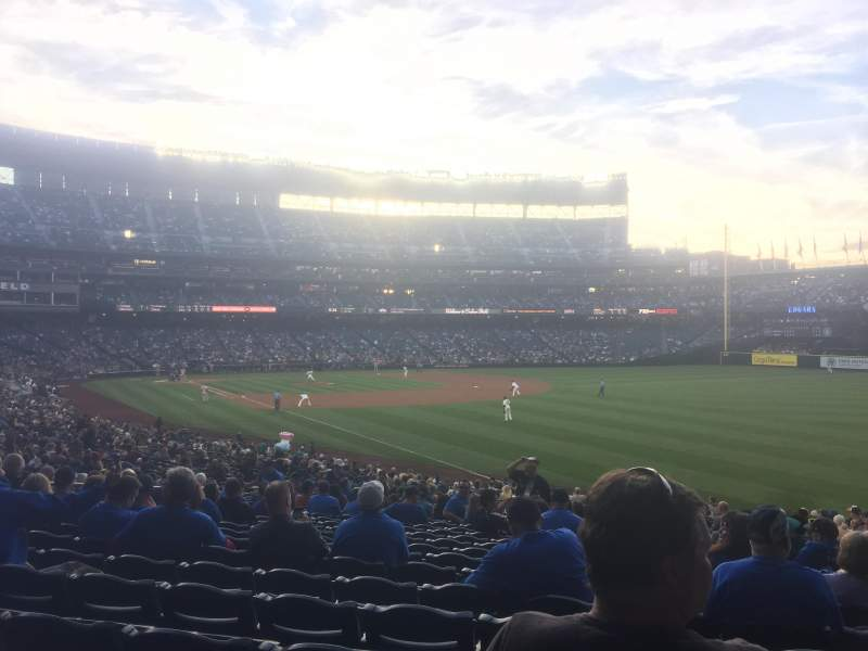 Seating view for Safeco Field Section 111 Row 33 Seat 16
